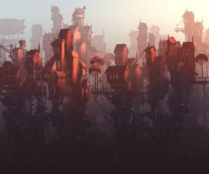 art, cityscape, and steampunk image
