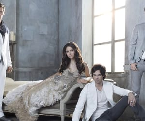 the vampire diaries, klaus, and Nina Dobrev image