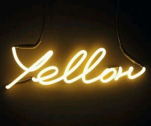 yellow, neon, and aesthetic image