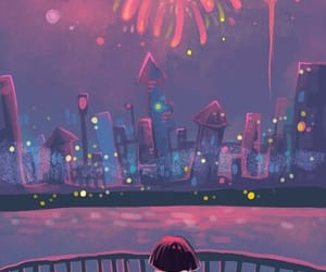 fireworks, girl, and cute image
