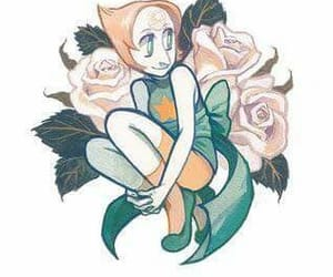 flowers, pearl, and steven universe image