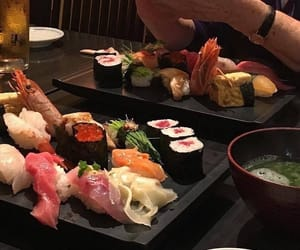 food, aesthetic, and sushi image