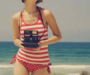 beach, camera, and photography image