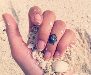 tattoo, beach, and sand image