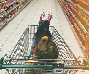 girl, supermarket, and tumblr image