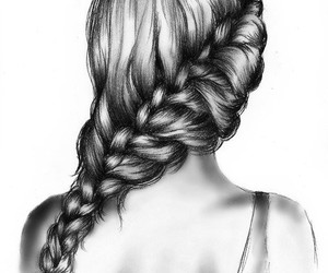 art, braid, and artistic image