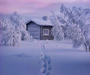 cold, house, and snow image