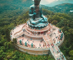 travel, Buddha, and hong kong image