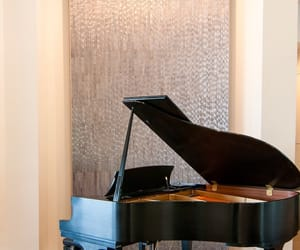 piano, house, and living room image