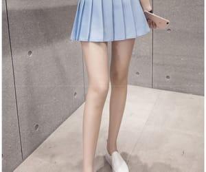 kfashion, powder blue, and skirt image