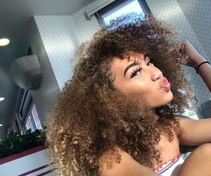 curly, hair, and piercing image