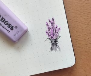 art, lavender, and scribble image