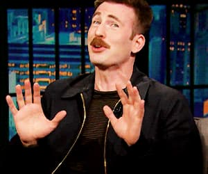 chris evans, funny face, and actor image