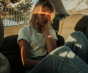 girl, fashion, and sun image