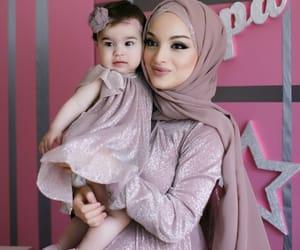 baby girl, hijab, and matching image