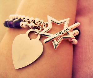 Dream, bracelet, and heart image