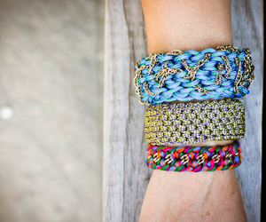 bracelet, crochet, and diy image