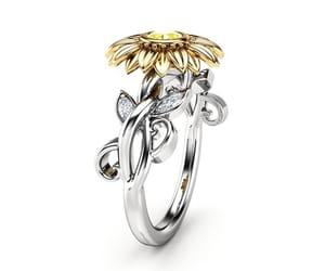 diamond ring, etsy, and yellow diamond image