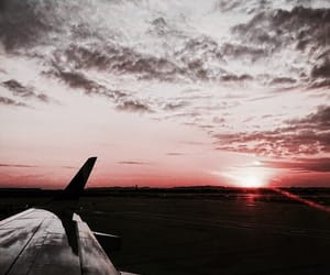 travel, sunset, and sky image