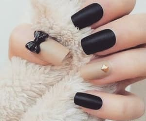 beautiful, black, and love my nails image