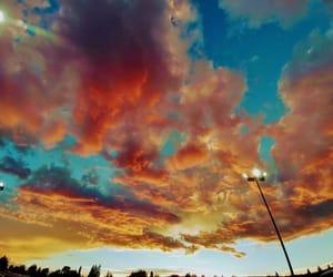 cloud, colors, and orange image