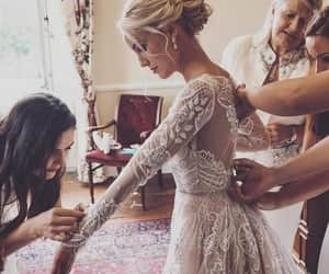 dress, bride, and style image