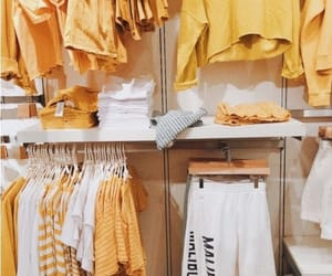 aesthetic, clothes, and yellow image