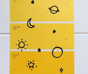 yellow, aesthetic, and stars image