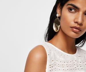 blouse, boho, and earrings image