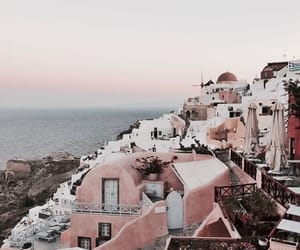 Greece, sunset, and santorini image