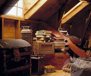 attic, vintage, and old image