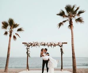 beach and wedding image
