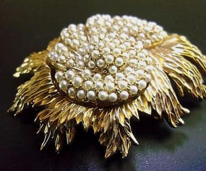 art deco, brooch, and floral image