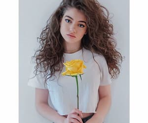 girl, flowers, and yellow image