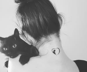 black cat, cat tattoo, and first image