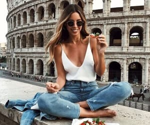 girl, fashion, and rome image