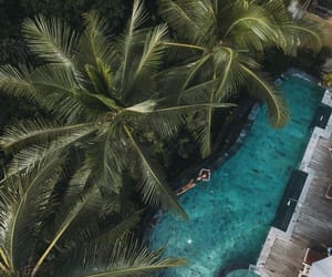 blue, pool, and relax image