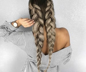 braids, chic, and hair image