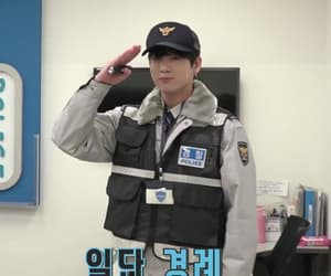 kpop, police officer, and jk image