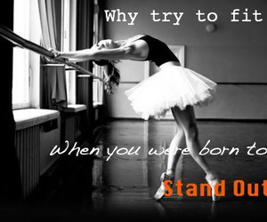 ballerina, black and white, and inspire image