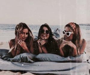 beach, friendship, and girls image