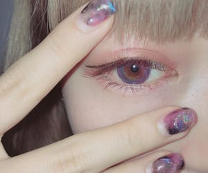 eye, girl, and 古関れん image