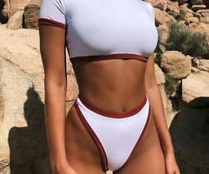 summer, swimsuit, and white image