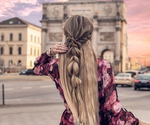 blonde, braids, and girl image
