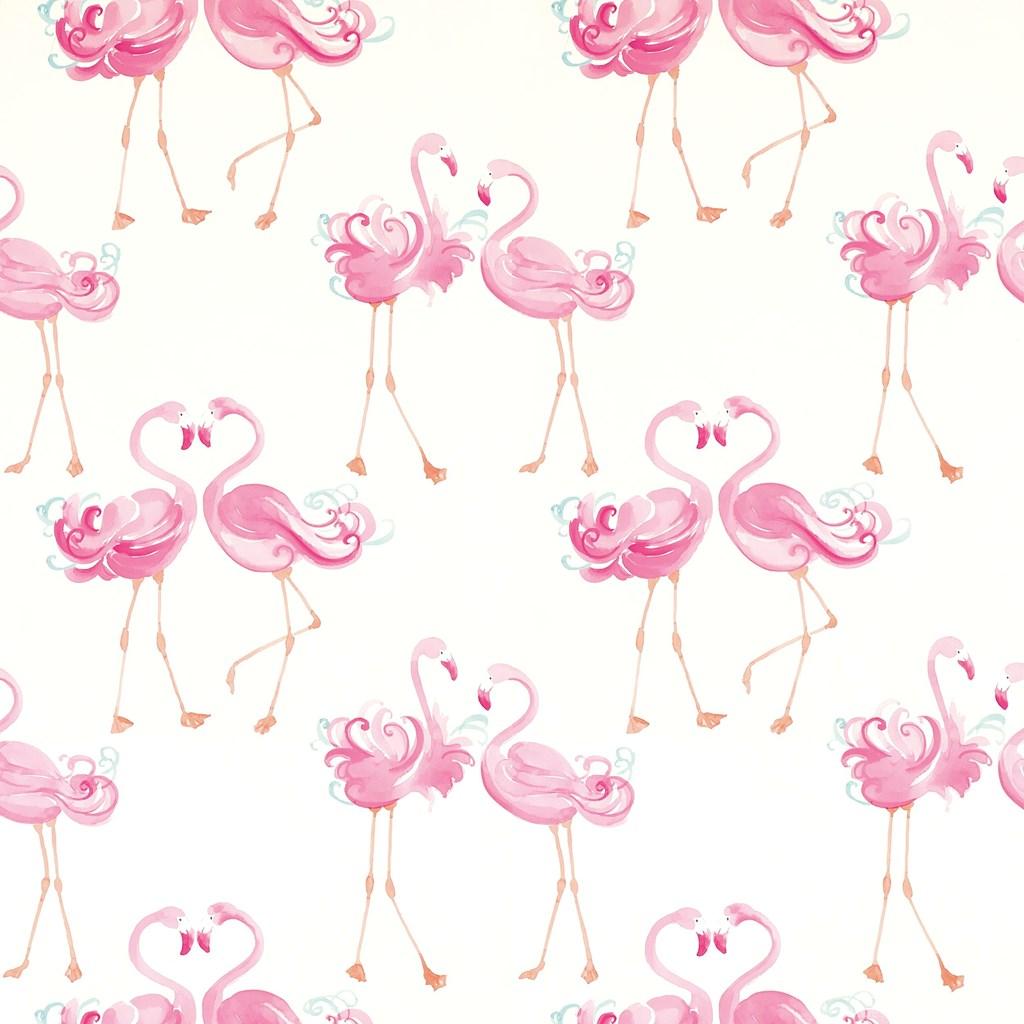 flamingo, pattern, and pink image