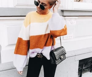 black, fashion, and orange image