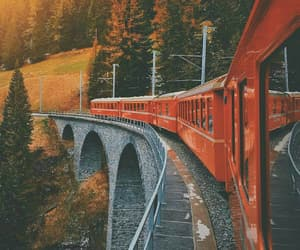 autumn, train, and fall image