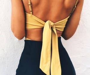 backless, summer, and blouse image