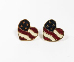 4th of july, americana, and hearts image