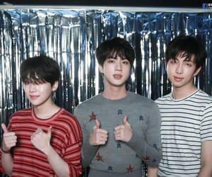 hq, yoongi, and jin image
